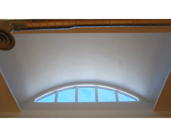 London Clay and Art Centre - A hidden jewel - this barrel ceiling is perfectly lit with a segmental eyebrow window by EVW.  Below this area is a potters circle which is naturally lit during the day