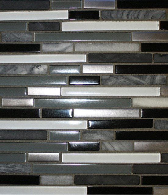 Metal, Stone & Glass midcentury-tile