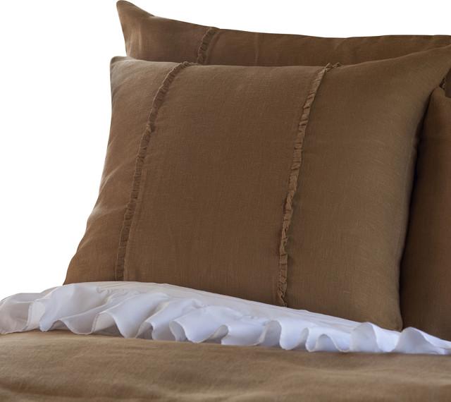 Hampton Tobacco Euro Sham Traditional Pillowcases And