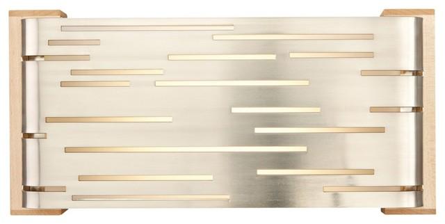 "Tech Lighting Revel Nickel 12 3/4"" Wide LED Wall Light contemporary-wall-lighting"