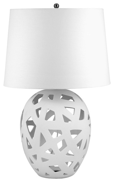 Lamp Works White Ceramic Table Lamp contemporary-table-lamps