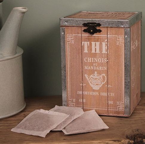 Wooden Tea Chest eclectic-food-containers-and-storage