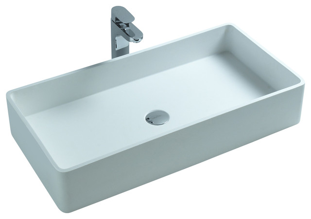 Resin Bathroom Sinks : ... Solid Surface Stone Resin Counter Top Sink contemporary-bathroom-sinks