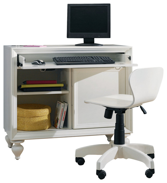 Lea Elite Zoe Desk with Chair in White traditional-baby-and-kids