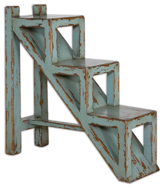 Asher Blue Accent Table farmhouse-side-tables-and-end-tables