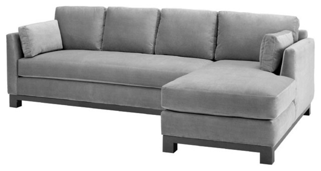 Avalon 2PC Sectional Sofa, Stone, Chaise on Left modern-sectional-sofas
