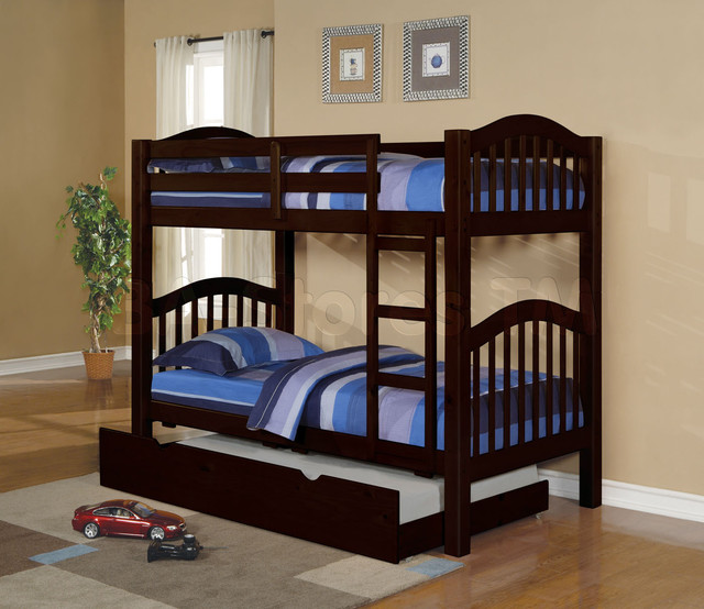 Espresso Twin Bed with Trundle 640 x 554