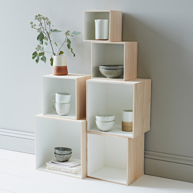 set of 6 square box shelves contemporary display and. Black Bedroom Furniture Sets. Home Design Ideas