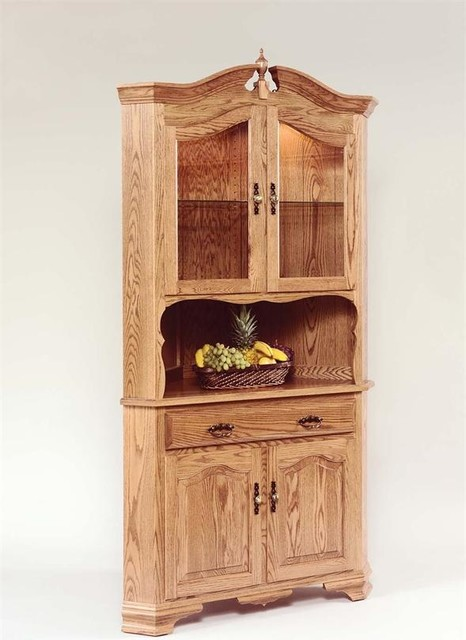 Hardwood Corner Hutch - Farmhouse - China Cabinets And Hutches - tampa - by DutchCrafters Amish ...
