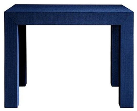 bungalow 5 parsons side table in navy blue traditional side tables and end tables by. Black Bedroom Furniture Sets. Home Design Ideas
