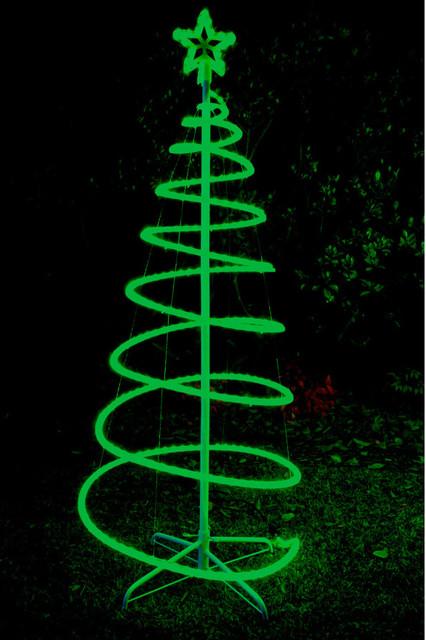 120cm Green Solar LED Spiral Xmas Tree Rope Light