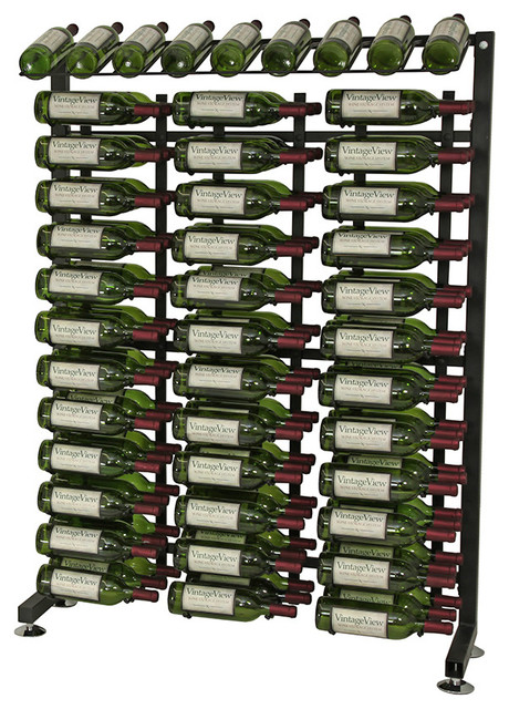 VintageView 117 Bottle Half Aisle Wine Rack in Satin Black contemporary-wine-racks