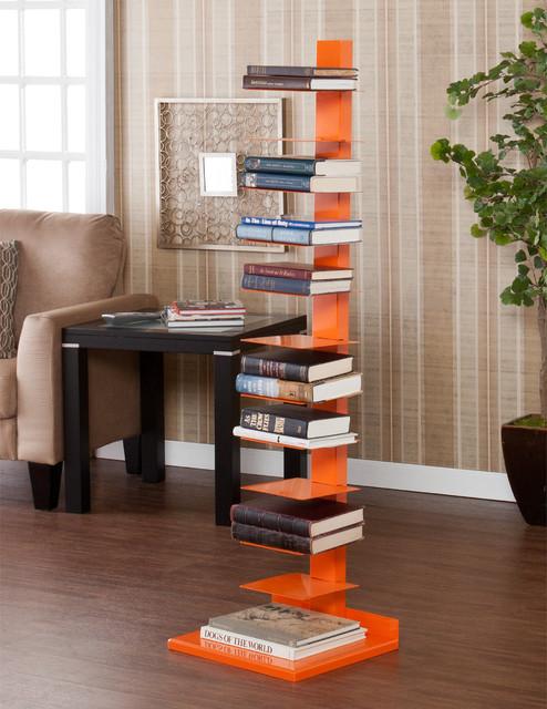 Upton Home Weldon Orange Spine Book/ Media Tower ...