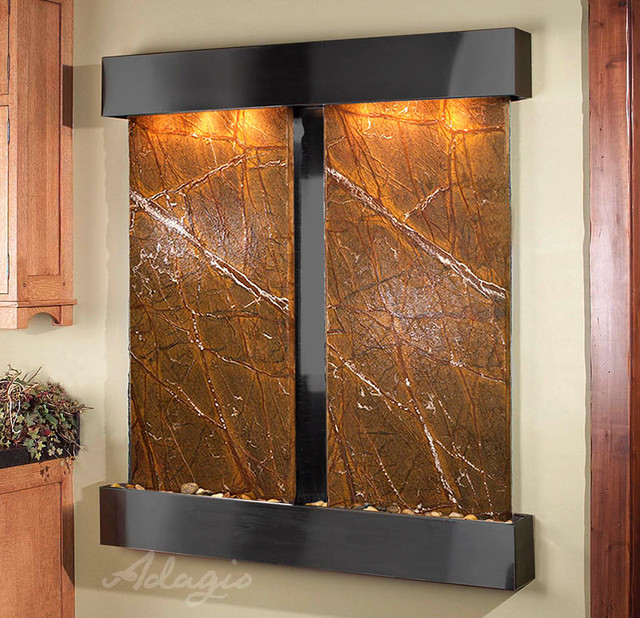 The cottonwood falls wall water features modern - Modern indoor water feature ...