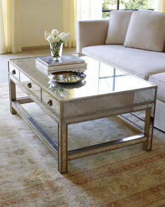 John-Richard Collection Galla Mirrored Coffee Table traditional coffee tables