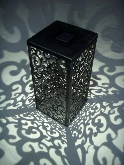 Shadows and Light Graycliff Solar LED Lantern traditional-outdoor-lighting