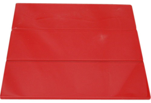 Loft Cherry Red Polished Glass Tile contemporary-tile