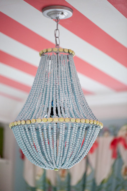 Beaded Heaven Custom Beaded Chandelier by Simply Salvage modern chandeliers