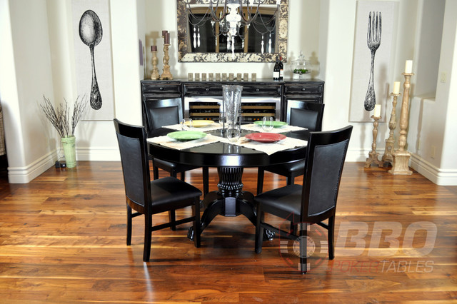 Nighthawk Round Dining Poker Table contemporary-dining-tables