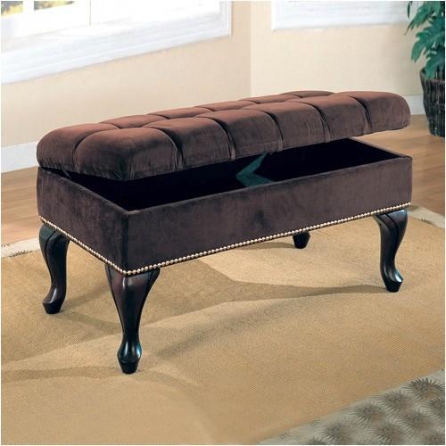 storage bench dark brown modern accent and storage benches