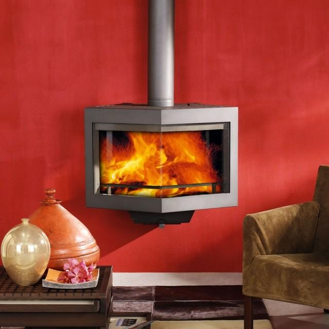 Wanders diamond Wood Burning Stove contemporary-freestanding-stoves