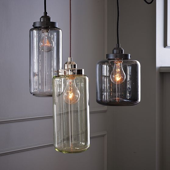Glass Jar Pendants industrial-pendant-lighting
