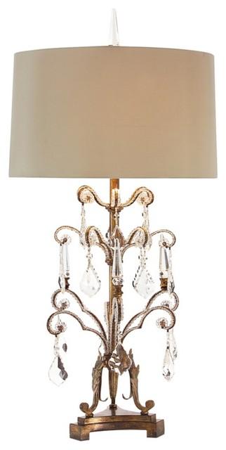 John Richard French Girandole Tall Crystal Table Lamp
