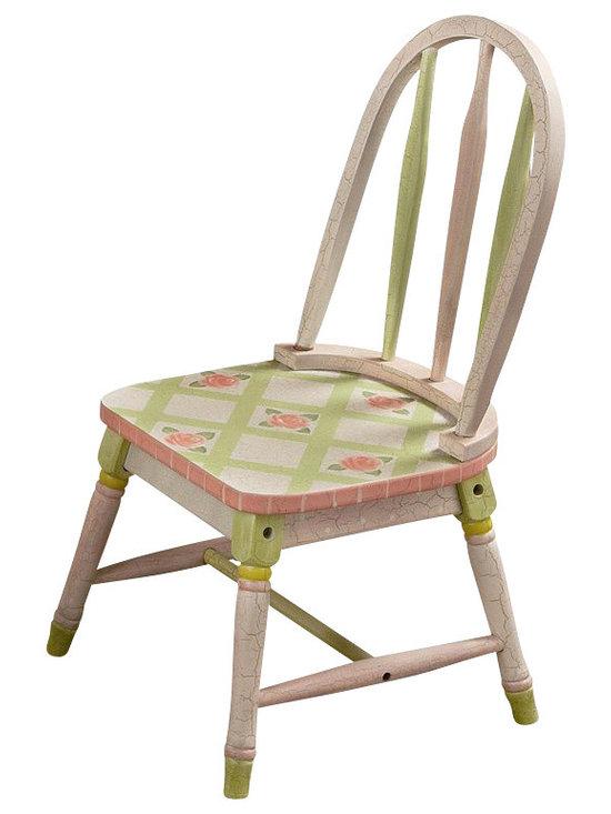 Teamson Design - Teamson Kids Crackled Rose Room Hand Painted Kids Chair Set - Teamson Design - Kids Chairs - W3809G.