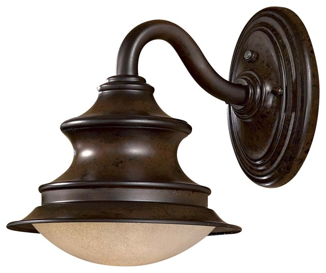"""Country - Cottage Vanira Place ENERGY STAR® 11"""" High Outdoor Wall Ligh traditional-outdoor-lighting"""