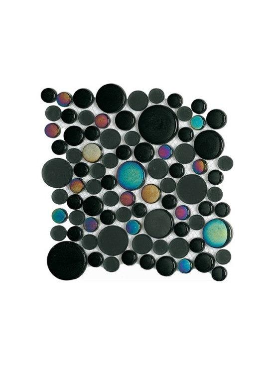 PORCELANOSA - Moon Glacier Metallic Black | 8x12 Mosaic -
