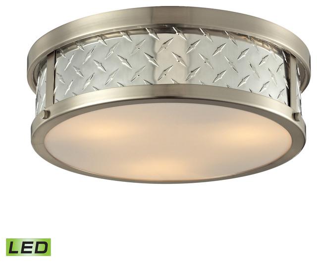 elk lighting diamond plate flush mount industrial flush mount ceiling