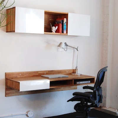 Lax series wall mounted desk modern desks and hutches for Lax series wall mounted desk