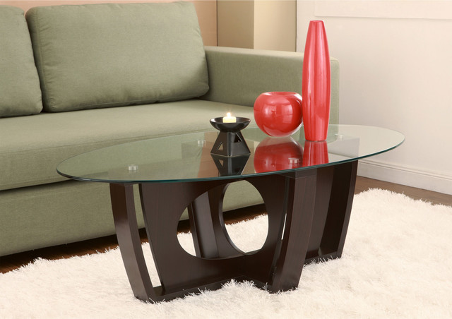 Furniture of America Ambrose Glass Coffee Table contemporary-coffee-tables