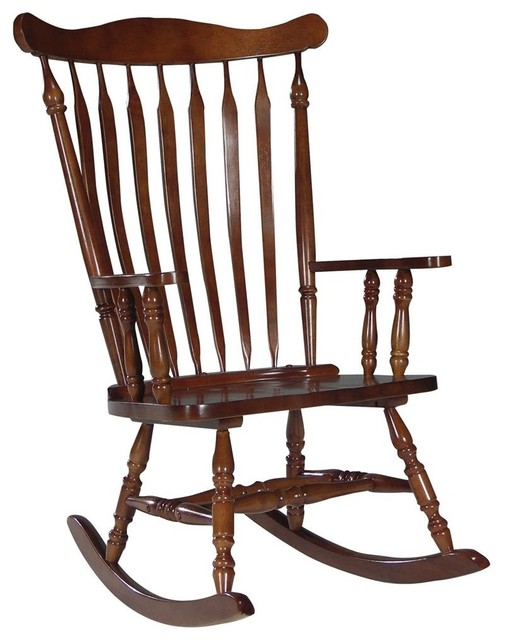 wood high back rocking chair in cherry traditional rocking chairs