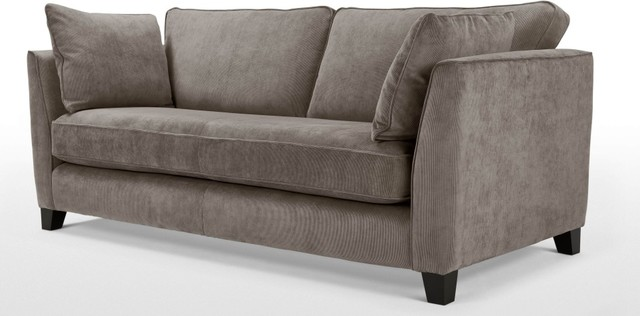 Wolseley 3 seater sofa mushroom brown corduroy for Brown corduroy couch