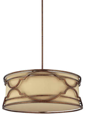 Luciana Bronze with Gold Dust Four-Light Pendant traditional-pendant-lighting