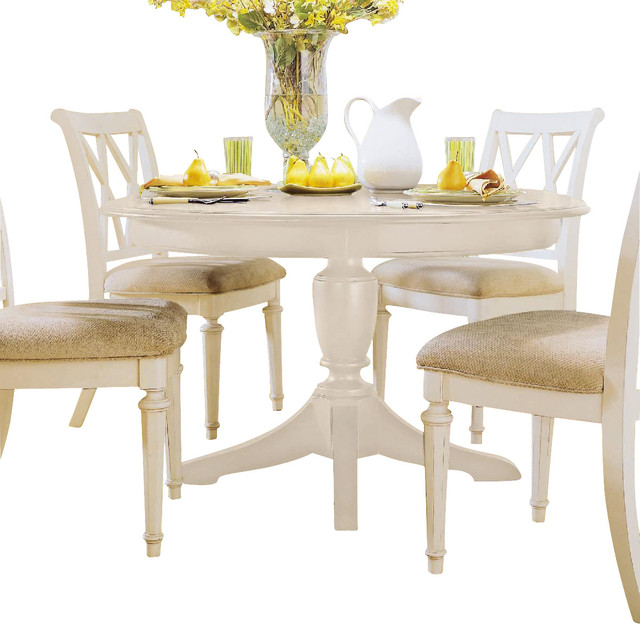 american drew camden light round table in white painted traditional dining tables by. Black Bedroom Furniture Sets. Home Design Ideas