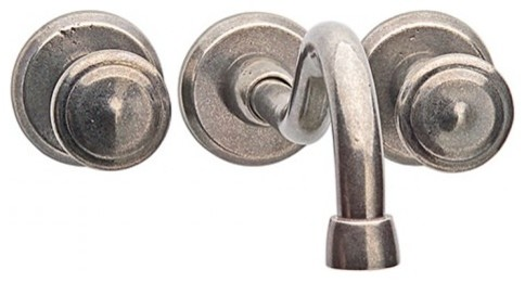 Rocky Mountain Wall Mount Faucet With Roswell Knobs modern-bathroom-faucets