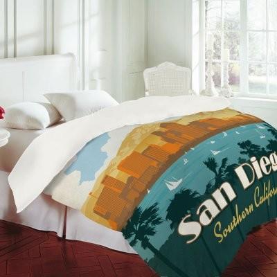 DENY Designs Anderson Design Group San Diego Duvet Cover modern-duvet-covers