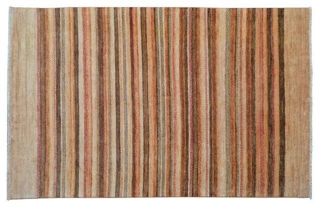 Oriental Rug Modern Gabbeh Striped Hand Knotted Rug Sh9109 modern-area-rugs