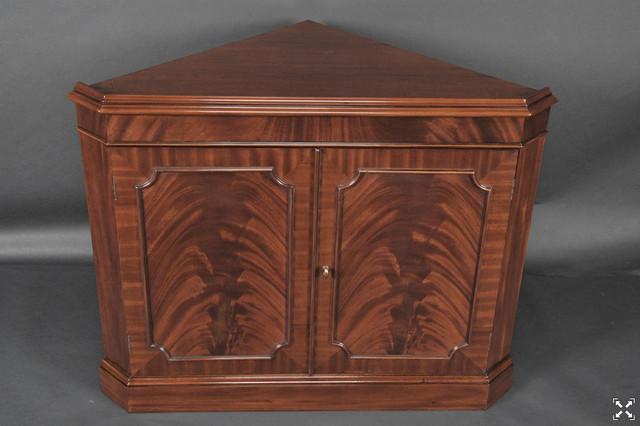 Mahogany Corner China Cabinet for the Dining Room (K NDRC 010) - Traditional - China Cabinets ...