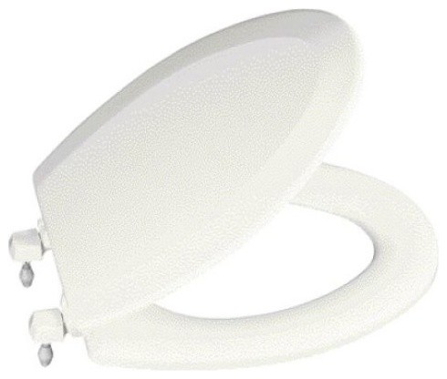 KOHLER Triko Round Toilet Seat With Closed Front Cover And Plastic Hinges