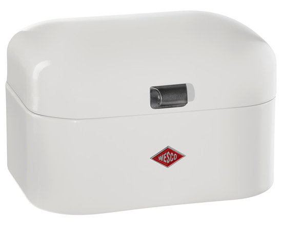 Wesco - Wesco Single Grandy Bread/Storage Box, White - Single Grandy Bread/Storage box is the scaled down version of the retro-classic Grandy, and is ideal for single households.  Manufactured from high quality powder coated sheet steel, with ventilation holes and metal handle.  Ideal for storing smaller loaves of bread, baked goods or any of your storage needs.  Manufactured by Wesco of Germany, who has supplied unrivaled quality steel kitchenwares since 1867, and continue to develop unique and innovative designs