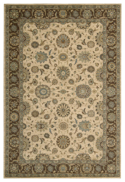 "Living Treasures LI05 5'6"" x 8'3"" Beige Rug traditional-rugs"