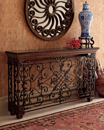 Ambella Wrought Iron Console Traditional Buffets And Sideboards By Horchow