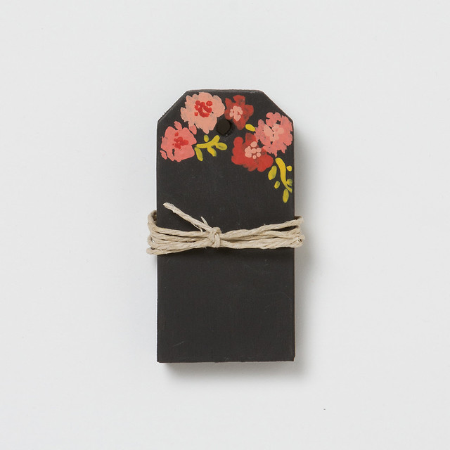 Floral Sketch Chalkboard Tags contemporary-home-decor