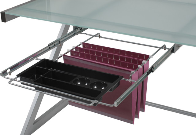 ... Pencil Tray-Aluminum - Contemporary - Filing Cabinets - by Euro Style