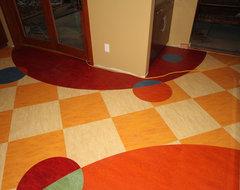 Custom Linoleum Kitchen Floor eclectic-vinyl-flooring