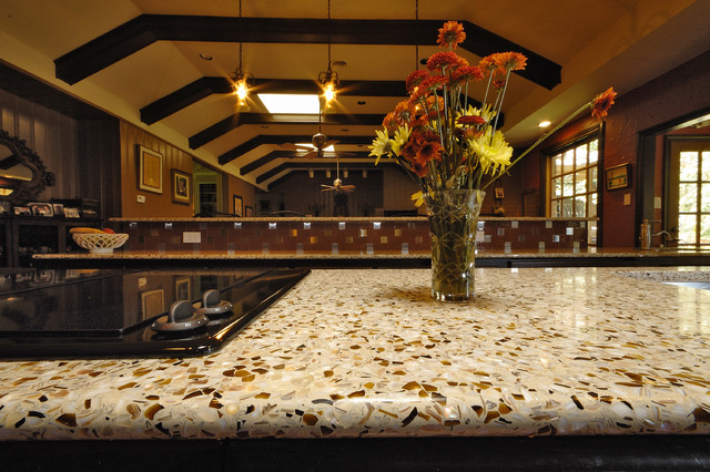 kitchen countertops: part 3 – recycled glass and paper composite