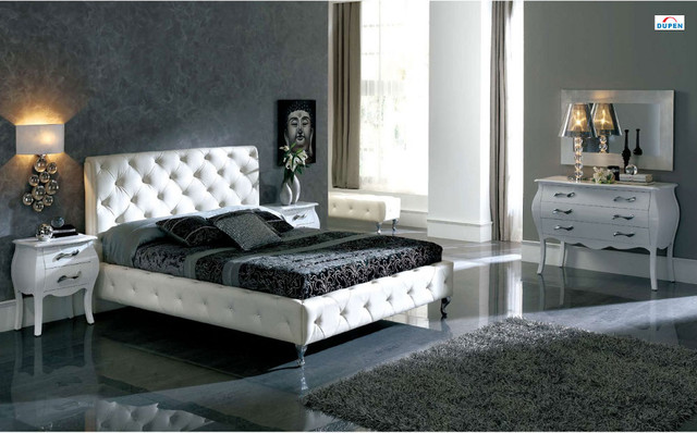 white king size traditional beds by modern furniture warehouse